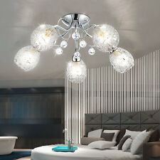 Plafonnier cristal Luminaire de Plafond Éclairage maille de chrome lumière salon