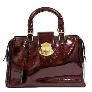 Louis Vuitton Melrose Avenue M93757 Monogram Vernis Leather Hand Bag Amarante LV