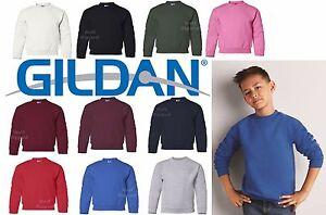 Gildan Heavy Blend YOUTH Crewneck Sweatshirt 18000B S-XL NEW Cotton/Polyester