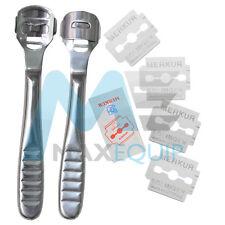 STEEL Dead Skin CORN CALLUS REMOVER Cutter Shaver Pedicure FOOT TOOL + 10 BLADES