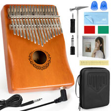 More details for electric kalimba thumb piano finger piano 17 key w/pickup for kid adult aklot