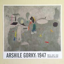 ARSHILE GORKY RARE LITHOGRAPH PRINT GAGOSIAN GALLERY EXHBT POSTER THE LIMIT 1947