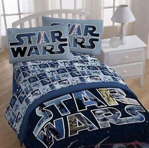 Disney Star Wars Space Battle Full Bed Sheet Set - 4 Piece NIP