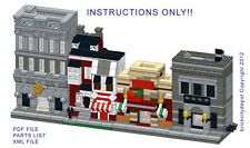 Lego Custom (4) Mini Modular Buildings- Bank, Chili's++INSTRUCTIONS ONLY! 10230