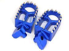 CNC RACING Billet FOOTPEGS Husqvarna 125-610 All Models 2002-2013 BLUE 9 FP19