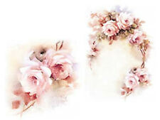 VinTaGe ImaGe InCreDiBle DeLiCaTe FaDeD SwaGs & RoSeS ShaBby WaTerSliDe DeCals