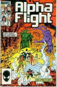 Alpha Flight # 24 (John Byrne, 52 pages) (USA, 1985)