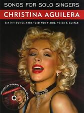 Songs For Solo Singers Christina Aguilera Learn to SING PIANO PVG Music Book