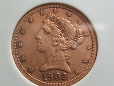 1902 S $5 GOLD LIBERTY HEAD -EF AND A DECENT PIECE...