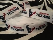 "1 Yard of 7/8"" Houston Texans Grosgrain Ribbon"