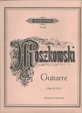 CELLO SOLO w/ PIANO: GUITARRE BY MOSZKOWSKI OP 45 #2 SHEET MUSIC PETERS ED 2224!