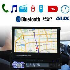 "Single 1 Din 7"" Car GPS Touchscreen In Dash Stereo Radio Bluetooth FM MP5 Player"