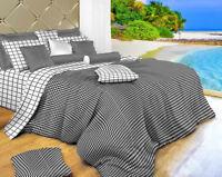 DM497Q - Queen Duvet Cover Set - Luxury 6 Piece 100% Cotton Dolce Mela Bedding