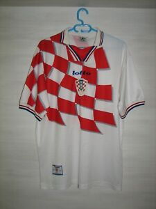 CROATIA 1998-01 HOME SHIRT LOTTO JERSEY SOCCER SIZE XL