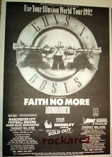 GUNS N' ROSES Use Your Illusion 1992 UK  Press ADVERT 8x6""