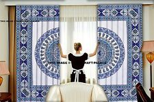 Indian Mandala Voile Window Curtains Solid Drape Sheer Door Room Tulle Curtain