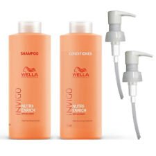 Wella Nutri-Enrich Shampoo & Conditioner Duo Litre Pack + Pumps