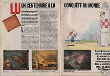 Coupure de presse Clipping 1986 Louis Lefèvre Utile crée le petit beurre (4 pgs)