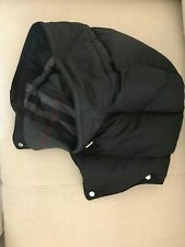 Authentic New Burberry Quilted Hood Black Check Lining