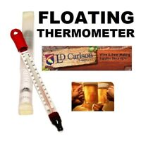 FLOATING THERMOMETER TRUE BREW GLASS 0F-220F /-20C to 105C BEER WINE MOONSHINE $