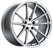 17x8/9 TSW 5x114.3 +40 Silver Rims Fits Nissan 300 350Z Is250