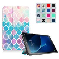 """For Samsung Tab A 10.1"""" ( S Pen / No S Pen ) Pattern Slim Shell Case Stand Cover"""