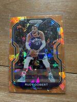 🔥2020-21 Panini Prizm Rudy Gobert Orange Cracked Ice #53 Utah Jazz