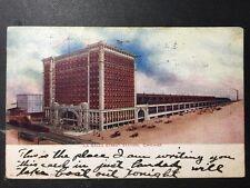 Antique Postcard c1909 La Salle Street Station Chicago Il Illinois (19835)