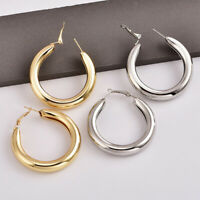 Fashion Women Circle Wide Drop Dangle Earrings Statement Jewelry Accessories MW