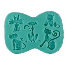 Silicone Cute Animal Cat Fondant Mold DIY Sugarcraft Candy Cake Decorating Tool