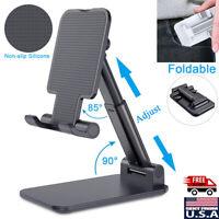 Foldable Universal Adjustable Tablet Stand Cell Phone iPad iPhone Desktop Holder