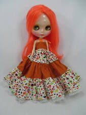 Costume outfit handcrafted halter long dress for Blythe Basaak doll 12-4