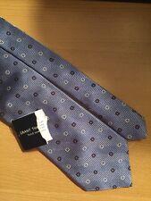 Grant Thomas Hand Sewn heavy Silk Neck Tie blue NWT