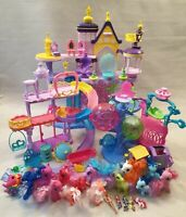 My Little Pony Toy Bundle Seaquestria Castle Train Slide 11 Ponies + Accessories