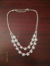 Ladies Pendant Necklace with Diamante Detail
