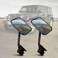 1 Pair Door Off Quick Release Side View Mirrors For Jeep wrangler's JK CJ YJ TJ
