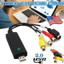 VHS to Digital File Converter Express USB 2.0 Video Capture Grabber Audio AV TV