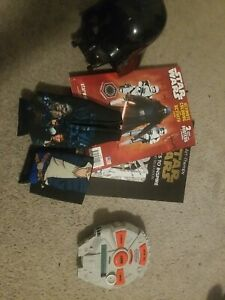 Star Wars lot vader clock catch phrase han and chewie coozies and coloring books