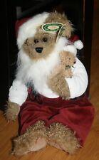 "Nwt 16"" Bearington Collection Kris & Kringle Christmas Santa Bear & Teddy Plush"