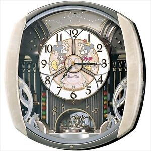 SEIKO Disney Time Automaton Clock FW563A Wall Clock Type light pink marble Japan