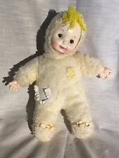 Vintage Baby Doll Light Yellow Snow Suit Plastic Hands & Face Plush Body
