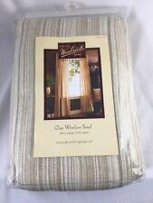 "Woolrich Home One Window Panel 54""x84"" Tan Beige White Woven  Curtain Drapery"