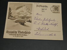 Germany 1936 olympic picture postal card *21639