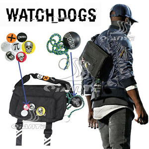 Watch Dogs 2 Marcus Holloway Dedsec Badges Shoulder Bag Casual Messenge Bag