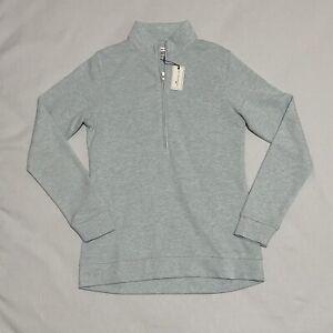 Peter Millar Women Sz Small 1/4 Zip Long Sleeve Golf Pullover NWT Light Blue