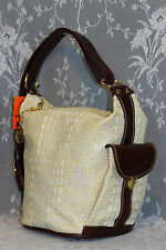 Marino Orlandi ITALIAN, Croc Embossed Leather Bucket , Sling , Shoulder Bag- NWT