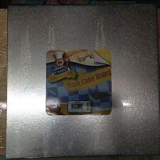 "Kingfisher 12""/30cm Cuadrado Tartas / Tabla METALIZADO Cubierto & envueltos."