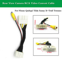Rearview Camera RCA Video Convert Cable For Nissan Qashqai Tiida Sunny X-Trail