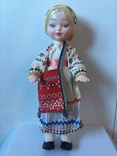 Beautiful 14� Soviet Plastic Doll Russia Vintage 80's