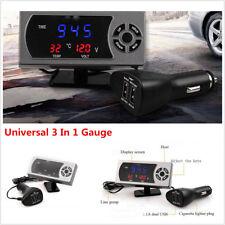 Car Bike Mini Style Instruction LED Display Meter MINI (Air Temp+Time+Volt Meter